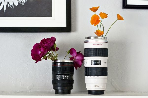 Canon Camera Lens Mugs - As awesome as ever! Our lens mug runneth over with camera-geek joy! ($24-$30)