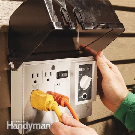 DIY Outdoor Electrical Outlet Homesteading  - The Homestead Survival .Com