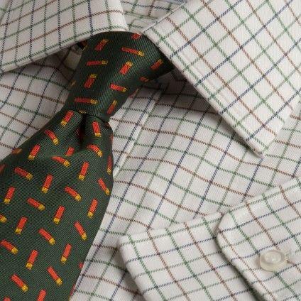 Brown Green Small Tattersall Shirt | Shirts | Menswear