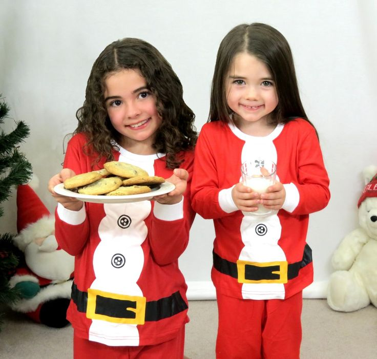 These are the perfect pajamas for your little ones to wear for Christmas card pictures, on Christmas Eve or throughout the holiday season. They are great for boys and girls to feel like Santa's little helper. These feature a lapped collar, flat elastic waist band, and are made from 95% Cotton/5% Spandex. They are machine washable and can be thrown in the dryer as well. Fits true to size.