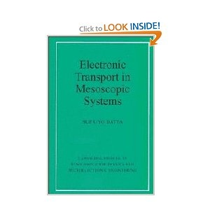 Electronic Transport in Mesoscopic Systems (Cambridge Studies in Semiconductor Physics and Microelectronic Engineering) by Supriyo Datta (Author). Recent advances in semiconductor know-how have made potential the fabrication of structures whose dimensions are much smaller than the mean free path of an electron. This book offers the first thorough account of the idea of electronic transport in such mesoscopic systems.