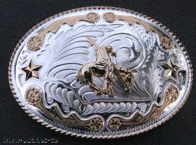 BIG WESTERN COWBOYS COWGIRLS RODEO GOLDEN BELT BUCKLES