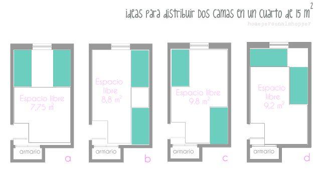 Ideas para colocar dos camas gemelas en una misma - Como se insonoriza una habitacion ...