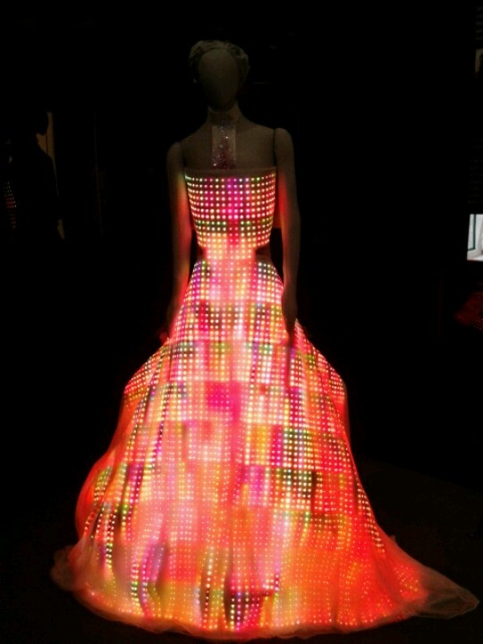 Light-up dress in the Museum of Science and Industry