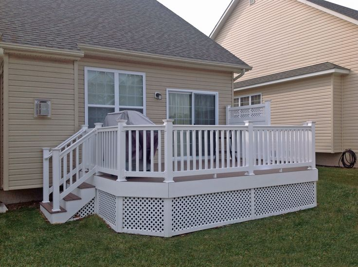 26 best deck renovation images on pinterest outdoor for Lattice privacy panels for decks