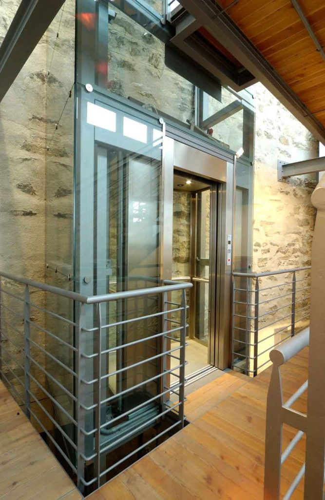 Suite Lift with Automatic Glass Sliding Doors