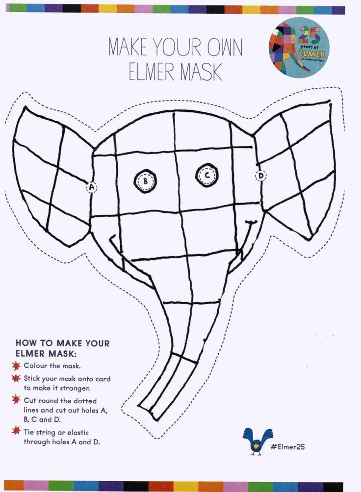Make your own Emler mask! #Elmer25