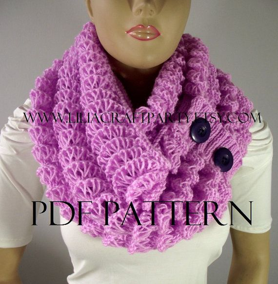 KNITTING PATTERN SCARF  Angel Wings Cowl Chunky by LiliaCraftParty