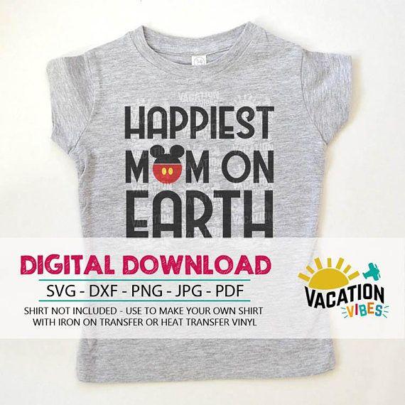 Family Disney Svg Disneyland Mom Shirt Cut File Printable Iron On