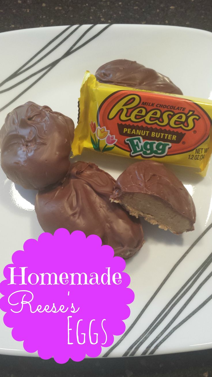 Homemade Reese's Eggs. Homemade peanut butter chocolate eggs free from all the icky preservatives.