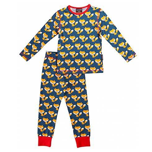 Organic Pyjama Set Foxes by Maxomorra