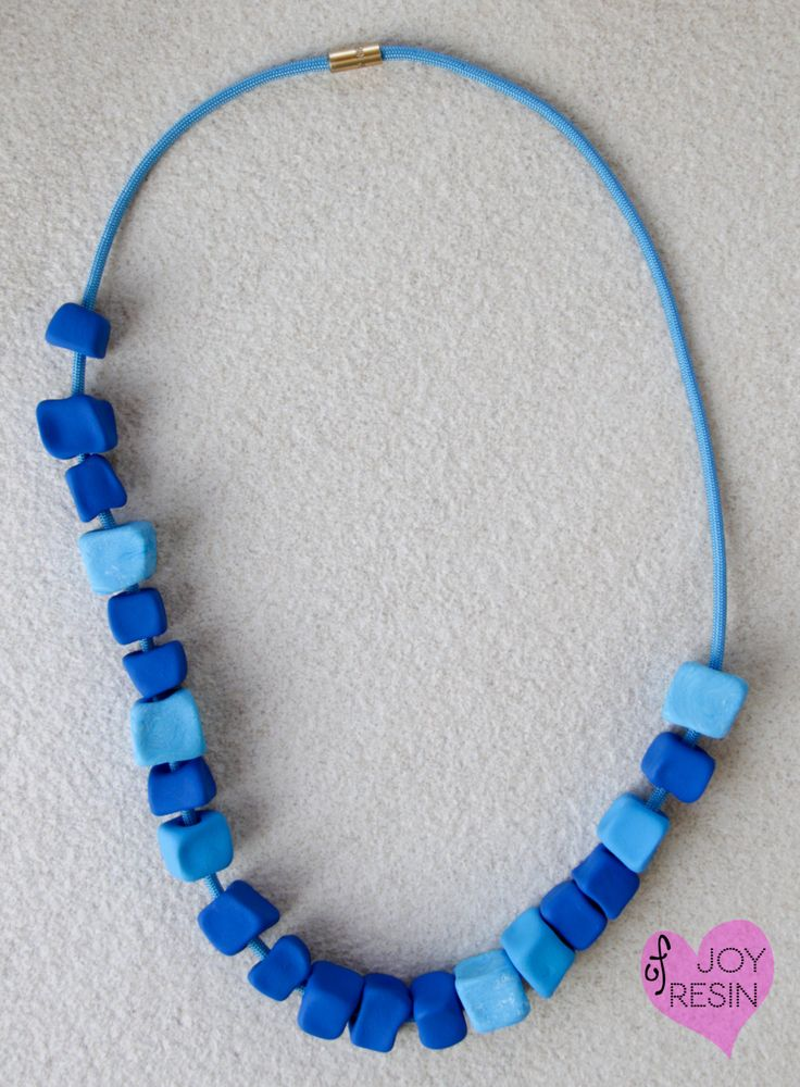 "NECKLACE#MULTISTRAND#Paracord jewelry#""summer days look#sky-blue#sapphire#azure#blue#gold/brass#tribal african necklace#statement jewelry by JOYofRESIN on Etsy"