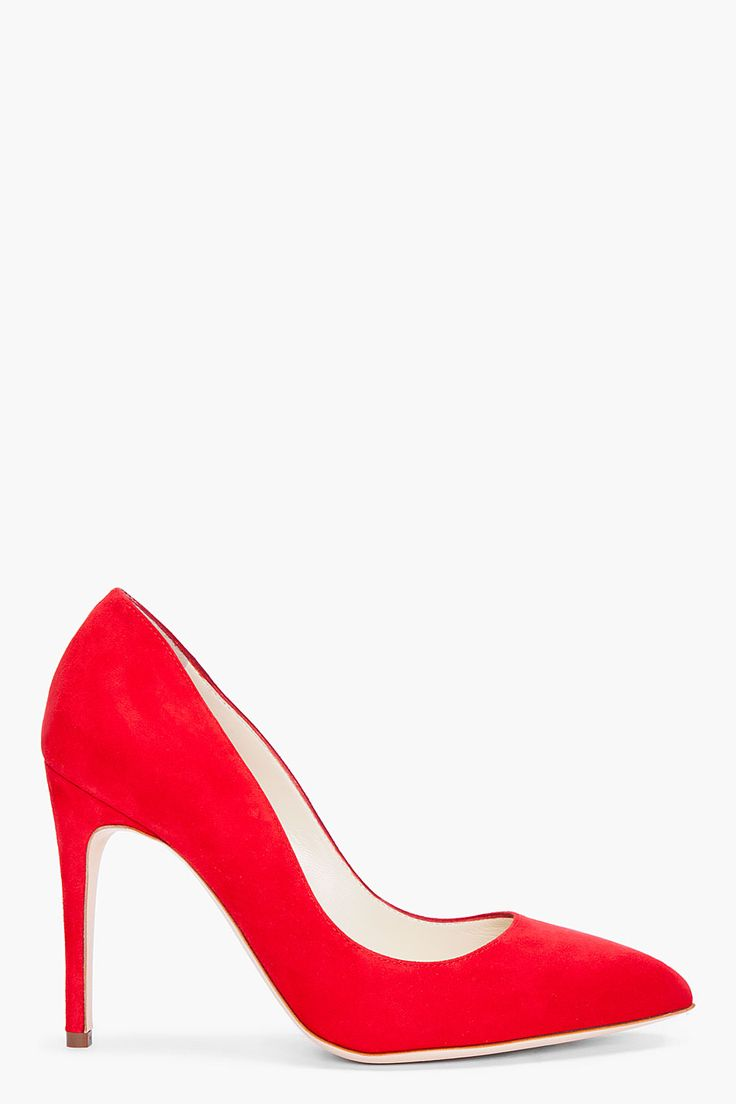 I'm a massive fan of red heels. The lines on this pair are extraordinarily sinuous.