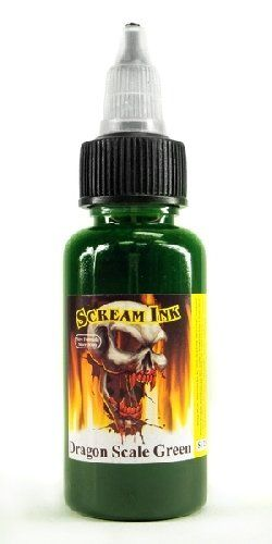 Scream Tattoo Ink DRAGON SCALE GREEN 12oz Bottles Tattoo Supplies -- Learn more by visiting the image link. Note:It is Affiliate Link to Amazon.