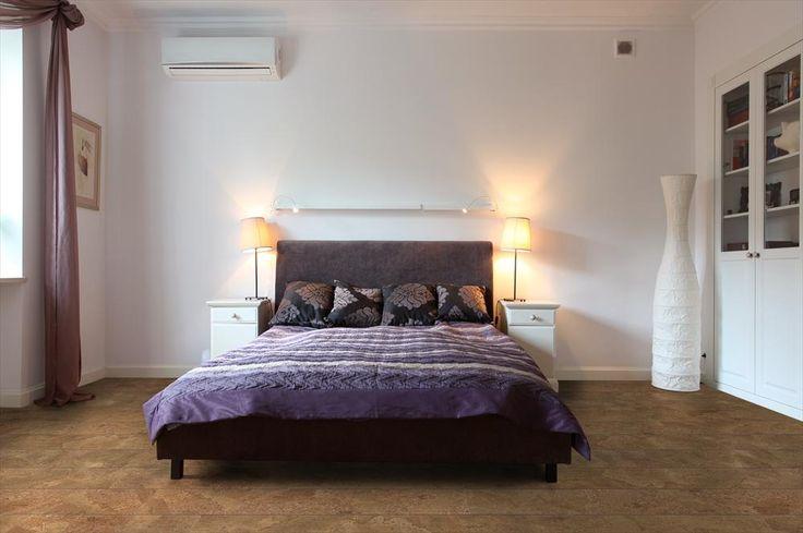 BuildDirect – Cork - Narrow Plank Almada Collection - Floating Floor – Harmony - Bedroom View