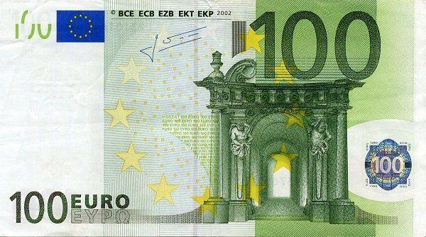 100 Euro Euro Scheine Euro Geldscheine