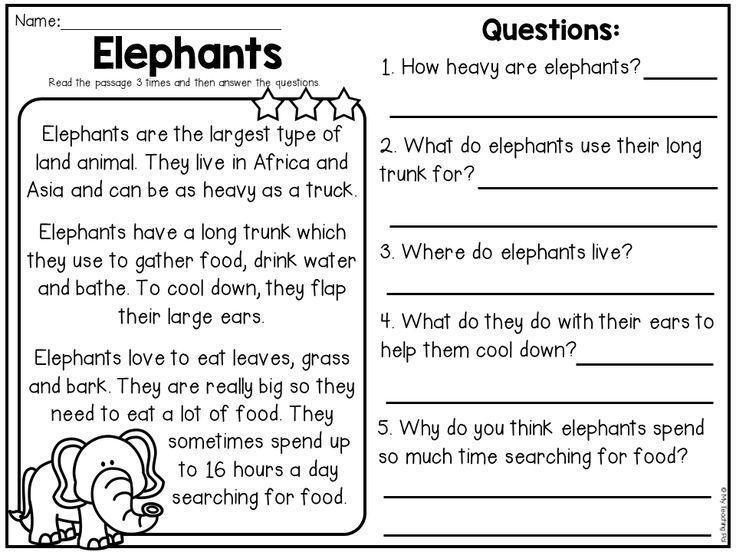 Animal Reading Comprehension Passages Comprehension Passage Reading Comprehension For Kids Reading Comprehension Passages Compare and contrast reading worksheets