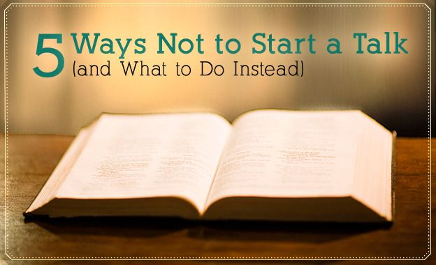 5 Ways Not to Start a Sacrament Talk (And What to Do Instead)