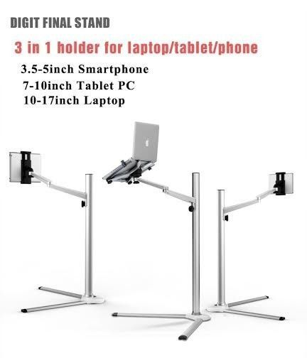 360 186 Rotating Height Adjustable Laptop Ipad Tablet Phone