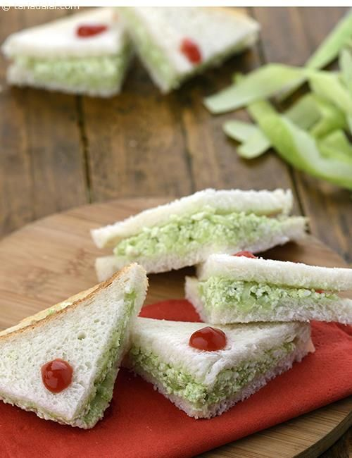 Cucumber Cottage Cheese Sandwich recipe | Step by Step recipes for Kids | by Tarla Dalal | Tarladalal.com | #2596