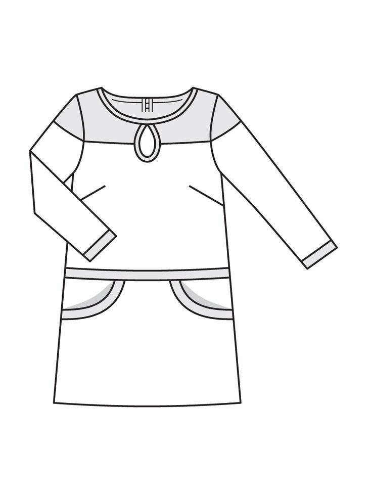 Короткое платье А-силуэта с вырезом-капелькой