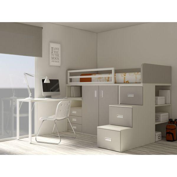 die besten 25 hochbett mit schrank ideen auf pinterest lagerbetten ikea aufbewahrungsbett. Black Bedroom Furniture Sets. Home Design Ideas