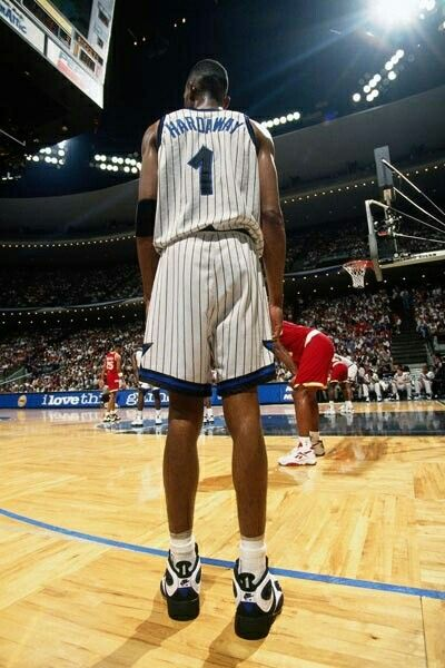 Penny Hardaway against the Rockets during the finals in Orlando.