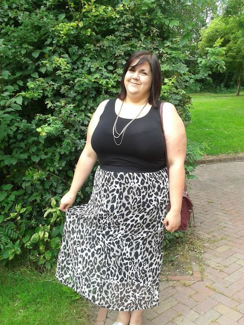 Leopard Skirt and plain cami.