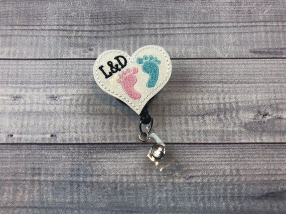 Retractable Clip Breakaway Badge Holder Hearts on Black Lanyard w// I.D