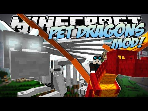 Minecraft | PET DRAGONS MOD! (Tame, Mount & Fly Your Own Dragon!) | Mod Showcase - YouTube