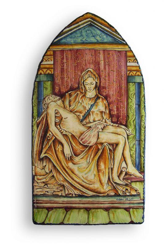 Icon Pietà. Icon inspired by the Pietà by Michelangelo.