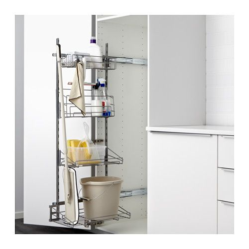 UTRUSTA Pull-out rack for cleaning supplies IKEA Pull-out organizers make it easy for you to see and reach your cleaning supplies.