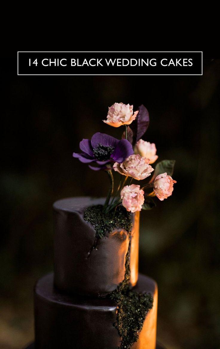 amazing black wedding cakes