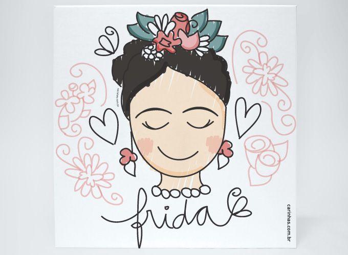 Frida Kahlo inspirou e inspira muitos e muitos artistas. Não é de hoje a nossa vontade de criar uma homenagem para a Frida, no estilo Carinhas.