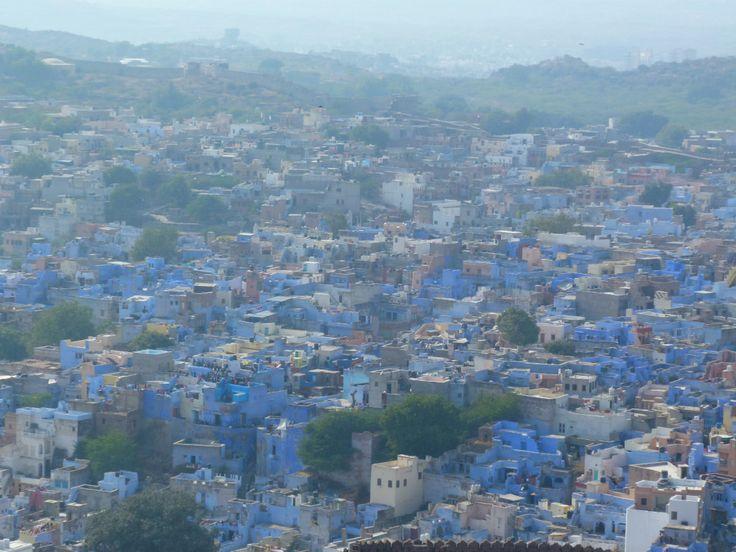 View of the City from Merangarh Fort ,Jodhpur India. The blue City