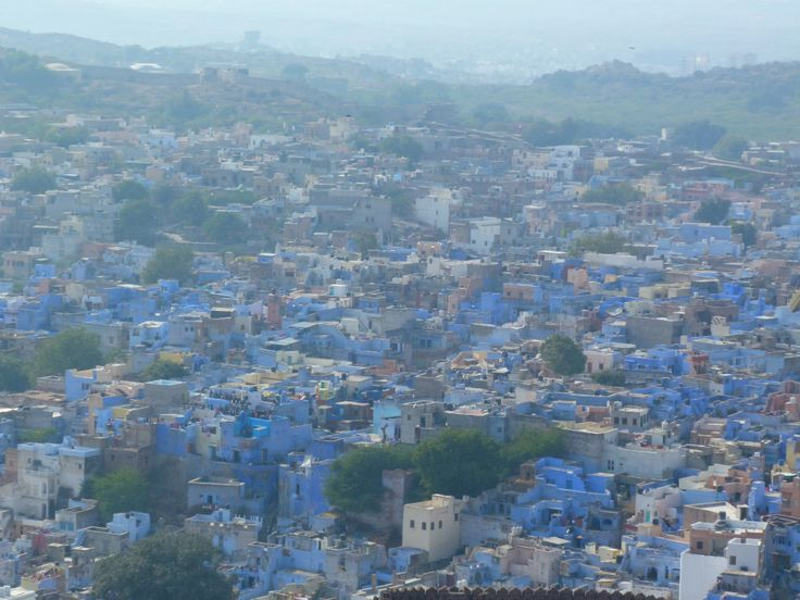 View of the City from Merangarh Fort ,Jodhpur India. The blue City