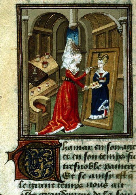 Anonymous, 15th century, female painter. Female Artist. Medieval. Artist Studio.