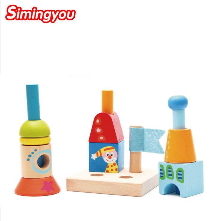 Simingyou Child Toys Rainbow Puzzle Assembling Color Recognition Wood Jeux En Bois Educatif Bois C20-A-303 Drop Shipping #Affiliate