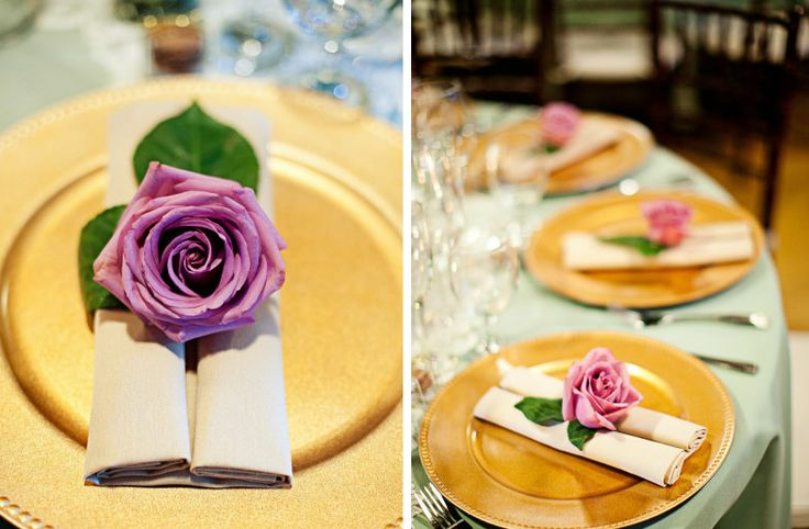romantic wedding flower inspiration roses pink purple tablescape