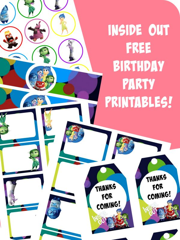 I am back with another set of FREE birthday party printables y'all!! This time I went with Inside Out and all their fun characters and I hope you enjoy using this for your child's next party! Check them out! As always, there are some cupcake toppers: Inside Out Cupcake Toppers A set of food labels: …