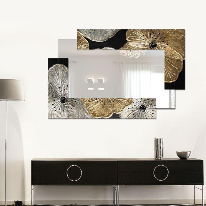 Petunia Oro Scomposta Piccola #specchiera #specchiere #specchio #mirror #specchi #mirrors #madeinitaly #paintings #pictures #pintdecor #canvas