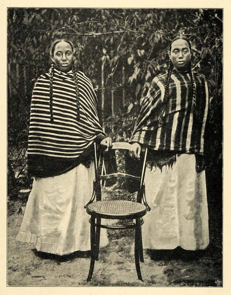 1901 Print Madagascar Hova Women Cultural Dress Hairstyles Voltzkow XGD8