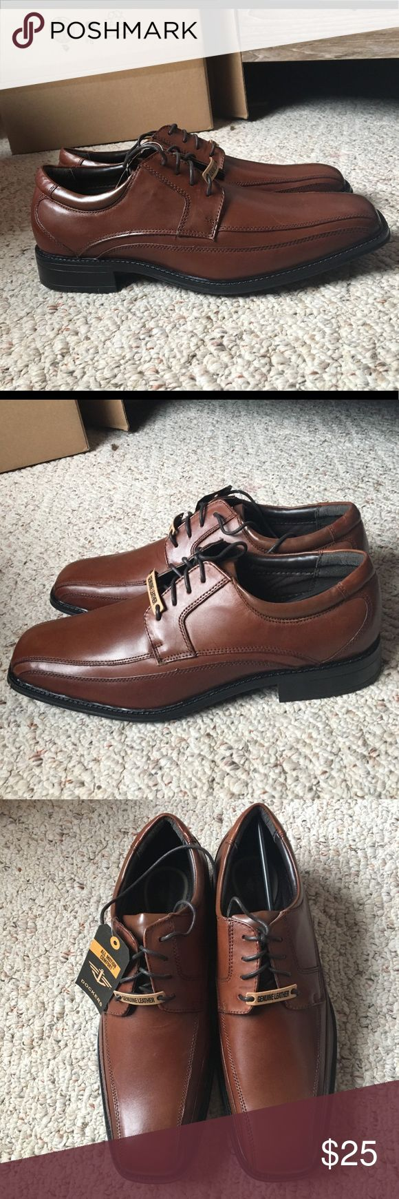 NWT Men's Leather Brown Dockers Dress Shoe Brand new with