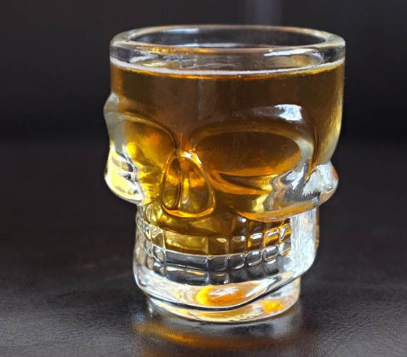 Real men fight bears, arm wrestle lions, and drink exclusively from skull shot glasses that are lit on fire. Now you too can own yourself some skull shaped shot