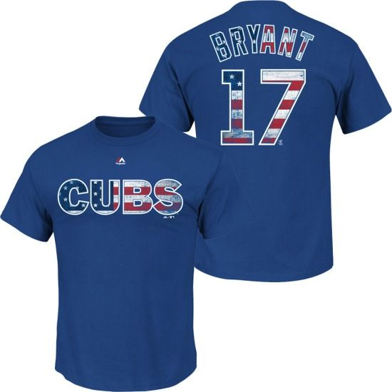 Kris Bryant Chicago Cubs Proud Fan T-Shirt by Majestic  #ChicagoCubs @cubsbaseball  #KrisBryant $29.95