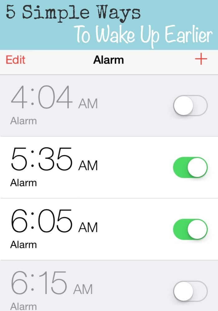 5 simple ways to help you wake up earlier every morning and be more productive.