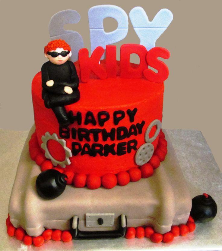 Spy Kids Birthday Cake My Cakes Pinterest Kid