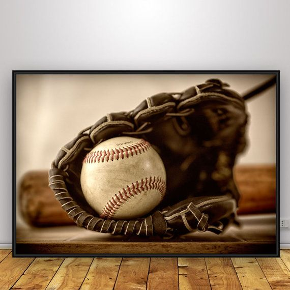 Baseball poster Baseball art photo Baseball by PhotoDesignLab