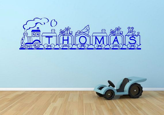 Personalised Train Name Wall Sticker Bedroom by GlitterBlast