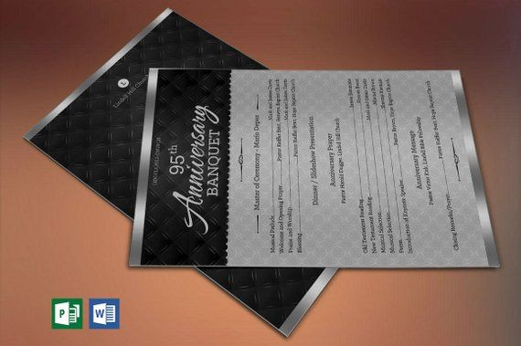 silver church anniversary one sheet program publisher word template